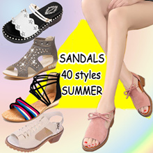 Female sandals/slippers Bohemian style Ladies Wedge Sandals 40 styles 2018 summer