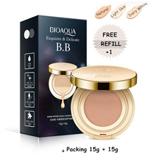 Bioaqua Exquisite and Delicate Cream Air BB Cushion Gold Case SPF 50++ PLUS Refill 15gr