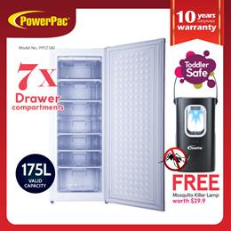 PowerPac Chest Freezer Upright freezer Freestanding Freezer 175L (PPFZ180)