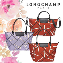 *APPLY COUPON* LONGCHAMP LE PLIAGE NEO GEO COLLECTION TOTE BAG - 1515 1899 PURPLE SIENNA
