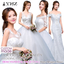 Luxury Wedding Dress Lace Mermaid Wedding Gown Sleeves Tulle Floral Ball Gown Tailored All Size