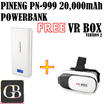 PINENG PN-999 20000mAh POWERBANK FREE VR BOX VERSION2