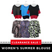 Clearance Sale!!Women's summer blouse/High Quality||The Newest European Style Loose Fit Chiffon Plus Size Blouse||women fashion