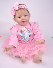 Hot Sale silicone vinyl newborn real baby doll 22 inches soft reborn babies handmade lifelike girl g