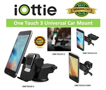 AMAZON BEST SELLER! iOttie Easy One Touch 3 / 2 ★One Touch Vent and CD Mount★iTap Dash n Vent Mount
