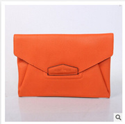 2013 new limited edition handbags orange envelope milled hand bag bag