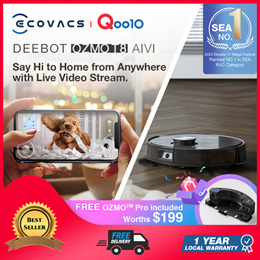 ECOVACS ECOVACS DEEBOT OZMO T8 AIVI/T8/ Ozmo 950 / Ozmo 920 Robot Vacuum Cleaner / Local Warranty