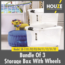 ♦Set Of 3 Storage Boxes Collection ♦ 30L - 95L Available! ♦ Strong And Durable ♦ 100% Virgin PP