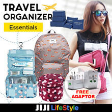 FREE Adapter【Travel Organizer 】 Bag in Bag Organizer/Travel Essentials Necessities Organisers Bag