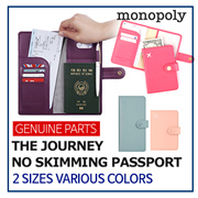 [Monopoly] ★ THE JOURNEY NO SKIMMING PASSPORT VER. 4 ★ Simple Travel Essential Identity Protection
