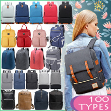 ★Women Men Backpack★Leather Canvas Oxford★Waterproof Anti-theft USB Bagpack★Travel School Backpacks★