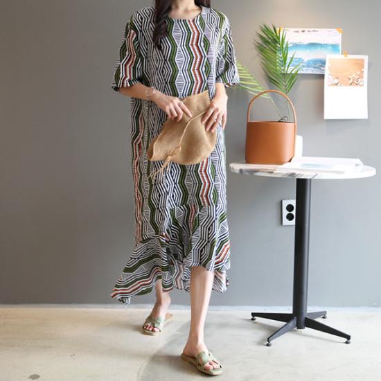 ガールズデイリールミヌロングワンピース 綿ワンピース/ 韓国ファッション