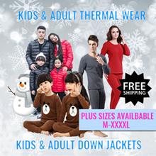 Kids Adult Winter Thermal Wear ♥Down Jackets♥Travel upto -10 degrees♥Wool Pyjamas♥Express Shipping