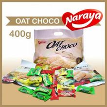 Naraya Oat Choco Bernutrisi untuk Vegetarian Snack Diet 40pcs Rasa Coklat Putih  Coklat Cokelat