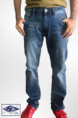 04117877974 D.STRETCH dENiZEN Men Slim Straight Denim Jeans Skyway Blue