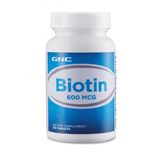 GNC Biotin 600mg 120 capsules [Hair Growth|Darken Hair Color] [Best Supplement for Hair]