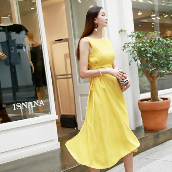 ディントゥD3367のジェーン・コルセットワンピース 綿ワンピース/ 韓国ファッション