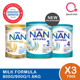 Nestle Nan Milk Forumla milk [Nan Optipro/HA/Kid hypoallergenic] (Bundle of 3)