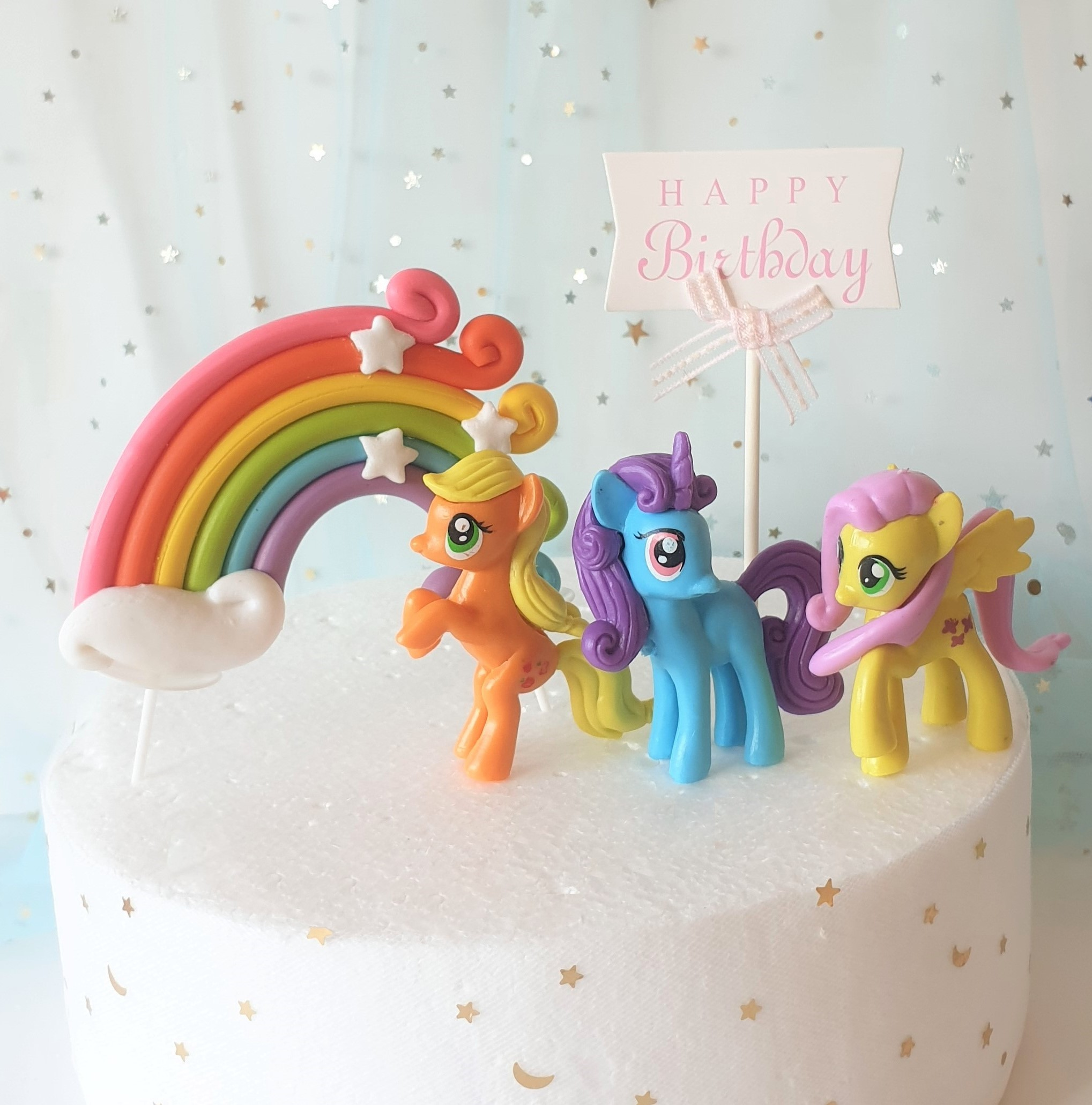 Peachy Qoo10 My Little Pony Cake Furniture Deco Personalised Birthday Cards Beptaeletsinfo