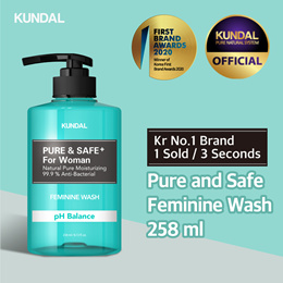 [KUNDAL] Pure and Safe Feminine Wash 258ml✨Kr No.1 Brand✨⭐1 sold in EVERY 3 Seconds⭐