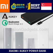 ★100% Authentic XIAOMI/AUKEY★ Mi PowerBank 20000mAh 16000mAh 10000mAh 5000mAh Power Bank Portable