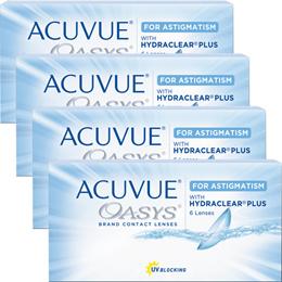 2ウィーク アキュビュー オアシス 乱視用 TORIC 【6枚入】 2week contact For astigmatism 【4箱】