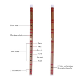Pluggable Bitter Bamboo Flute Dizi Traditional Handmade Chinese Musical Woodwind Instrument Key of D