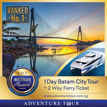 Batam Ferry Ticket - 2 Way SG/BATAM All Tax Included + 1 Day Batam City Tour