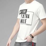 White Extra Mile Print Tshirt