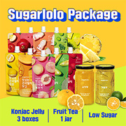 Sugarlolo Jelly/Tea Package-Konjac Jelly 3 boxes + Fruit Tea 1 jar