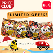 HULA Salted Egg Fish Skin 200g/pack (Bundle of 2 Deal) | Made in Singapore | Great Reviews!