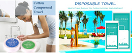 Disposable/Compressed Towel/ - Idea for Travel Business Trip Outdoor Activities Spa and Wellness***