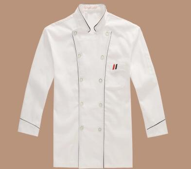 Hotel Chef Clothes Long Sleeve Overalls Restaurant Kitchen Uniform Uniforms