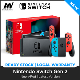 [Local Singapore Stocks] Nintendo Switch Neon/ Red | Grey (GEN 2) - 12 Months Warranty with Maxsoft - FREE DELIVERY!