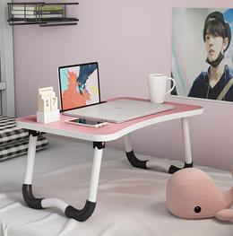 床上书桌大学生宿舍神器电脑桌懒人可折叠寝室学习家用卧室小桌子