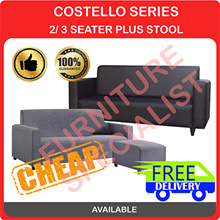 [Furniture Specialist] Costello Series 3 Seater Option  + Stool / 3 Seater / 2 Seater Sofa