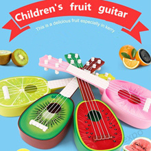 KIDS ukulele 36CM toys Childrens early teaching fruit guitar can be played