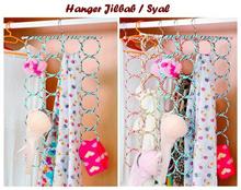Hanger Bulat Lipat Ring Hijab Jilbab Kerudung Gantungan Dasi Syal Baju SJ0101 k002