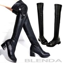 BLENDA long boots,flats Knee High Boots