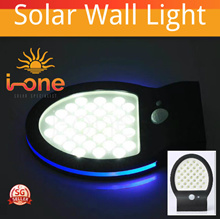 36 LED Solar Power Lamp Blue Light PIR Motion Sensor Outdoor Garden Wall Light Solar