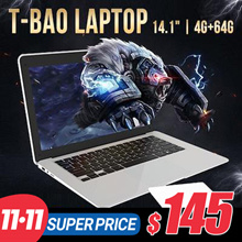 T-bao Laptop TBook X7 WIFI 32G Notebook Computer 14.1inch Slim Body Chocolate Keyboard Xiaomi