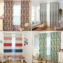 1pcs Sun Insulation Blackout Geometric Pattern Curtain 100cm x 250cm
