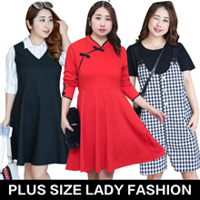 Plus / women fashion lovely dress / tops / high quality / Look thin /profession