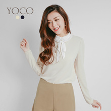 YOCO - Pleated Collar Blouse-171887-Winter