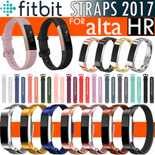 Fitbit alta hr strap silicone band milanese loop metal watchband straps for new fitbit alta hr