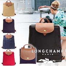 LONG CHAMP Le Pliage Folding Backpack Backpack Nylon × Leather 1699-089