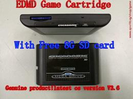 Free Shipping Free 8G SDCard SEGA GENESIS MegaDrive(MD) EDMD Game Cartridge, USA, Japanese and European game card shell