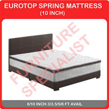 "10"" VEZEL Eurotop Spring Mattress / Add on Bedframe 