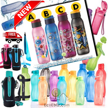 ★ TUPPERWARE ECO WATER BOTTLE Authentic ★ SG Seller *BPA Free* Lifetime Warranty Fliptop Screw cap