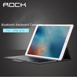For apple ipad pro 12.9  Bluetooth Keyboard leather case ROCK pu leather Cover Protective Bluetooth Keyboard Case for ipad pro
